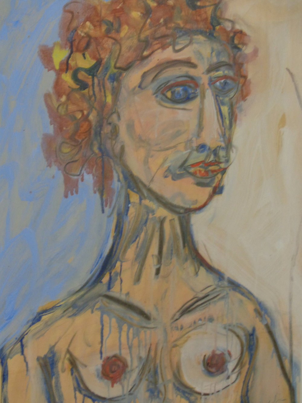 Irina - Oil on paper 2014