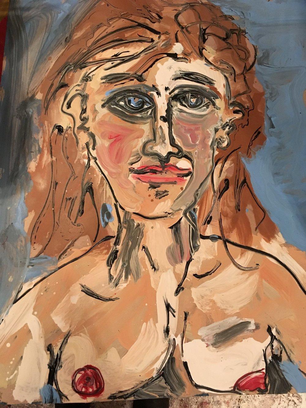 Rachel - Oil on paper 2017
