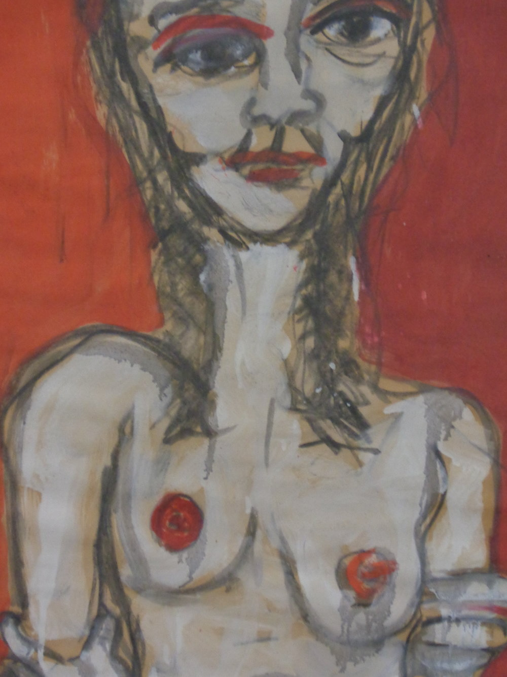 Dorothu Belmonte-Red - oil on paper 2010