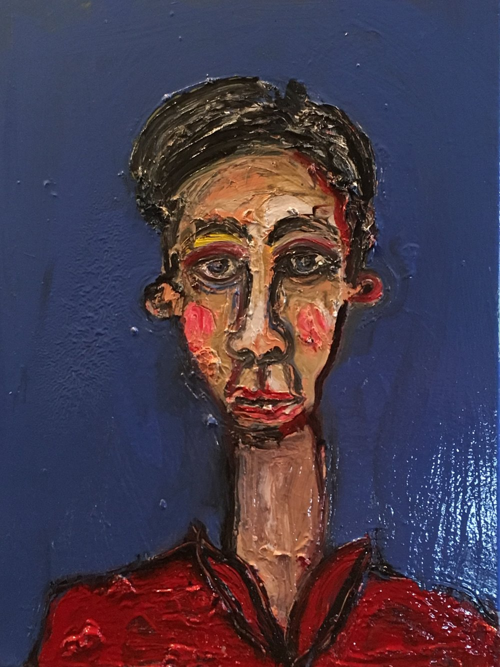 Boy With Long Neck - oil on canvas 2018