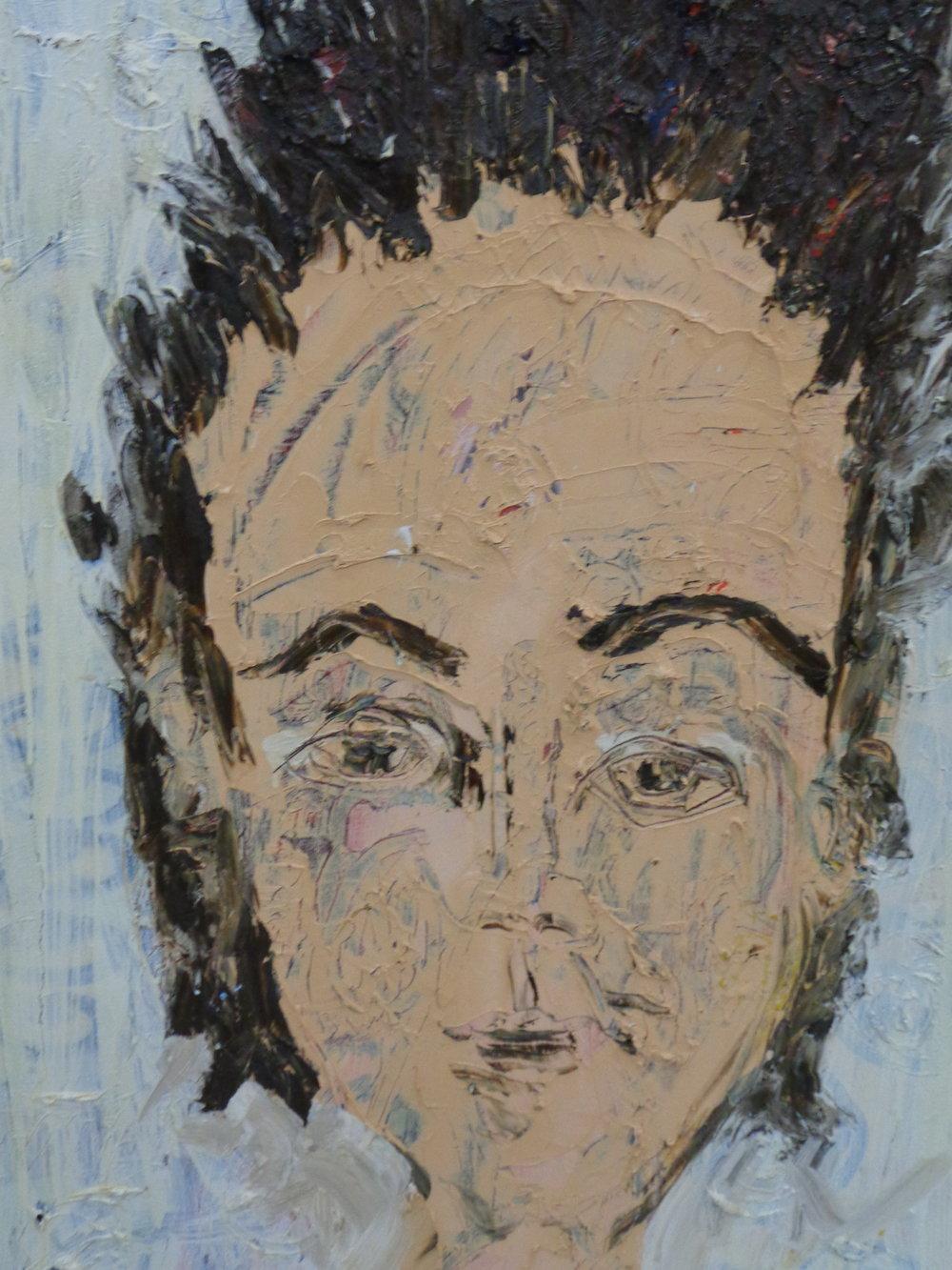 Siobhan Gazing - oil on canvas 2017