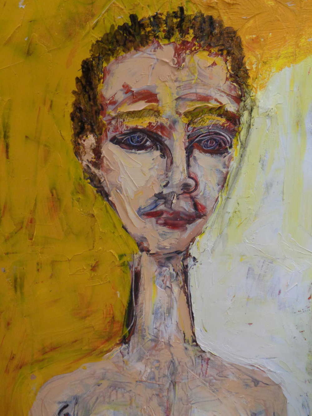 Siobhan With a Long Neck - oil on canvas 2018