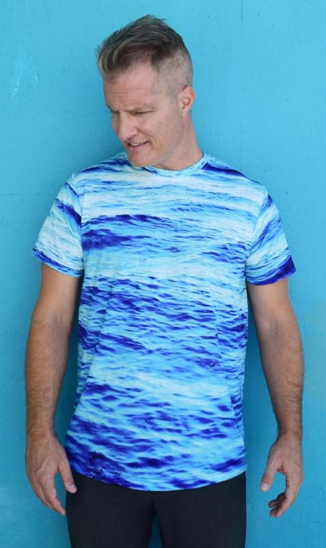 Ocean Blue tshirt mens wear boho surfer style.JPG