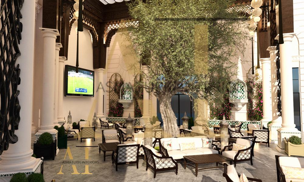 مشروع فندق الريتزكارلتورن - مطعم الارجوان الخارجي