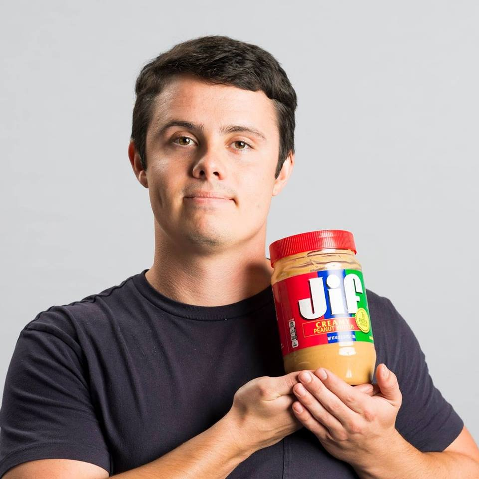 Click the jar of peanutbutter