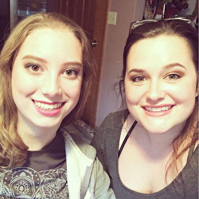 I did Lindsey's makeup!