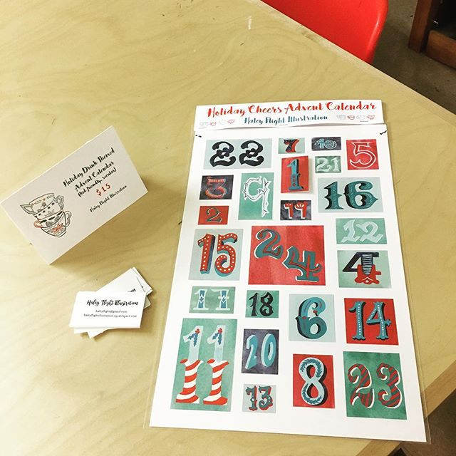 Holiday Advent calendars!! Catch one at the Holiday sale at MECA today and tomorrow Or reserve one now! Only $15!!