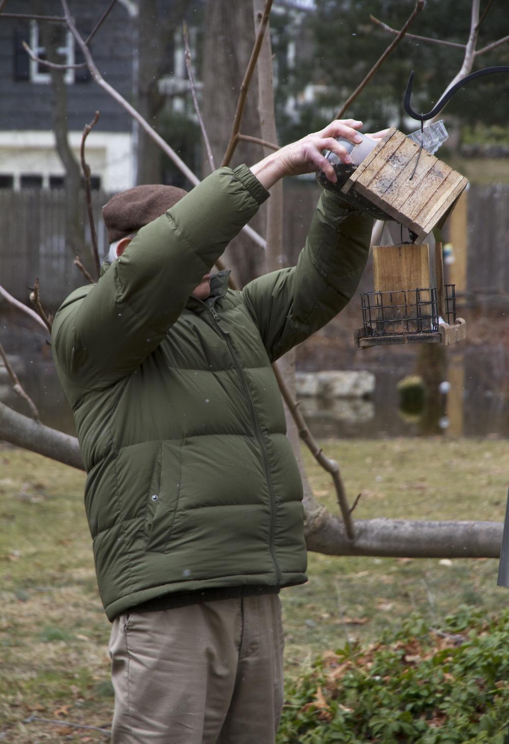 Feeding The Neighbor's Birds