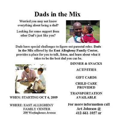 Dads in the Mix Program Marketing Flier