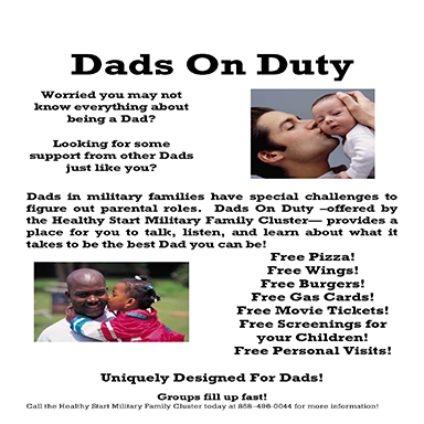 Dads on Duty Program Description Flier