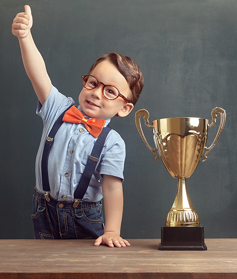 This photo is not an accurate representation of the award or a parent educator.