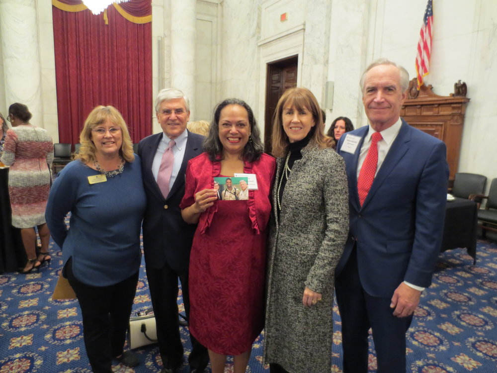 Board Vice-Chair Patricia Kempthorne, General George Casey, Julie Palmer-Blackwell, Sheila Casey and Dirk Kempthorne at the Washington, D.C. Board Reception.