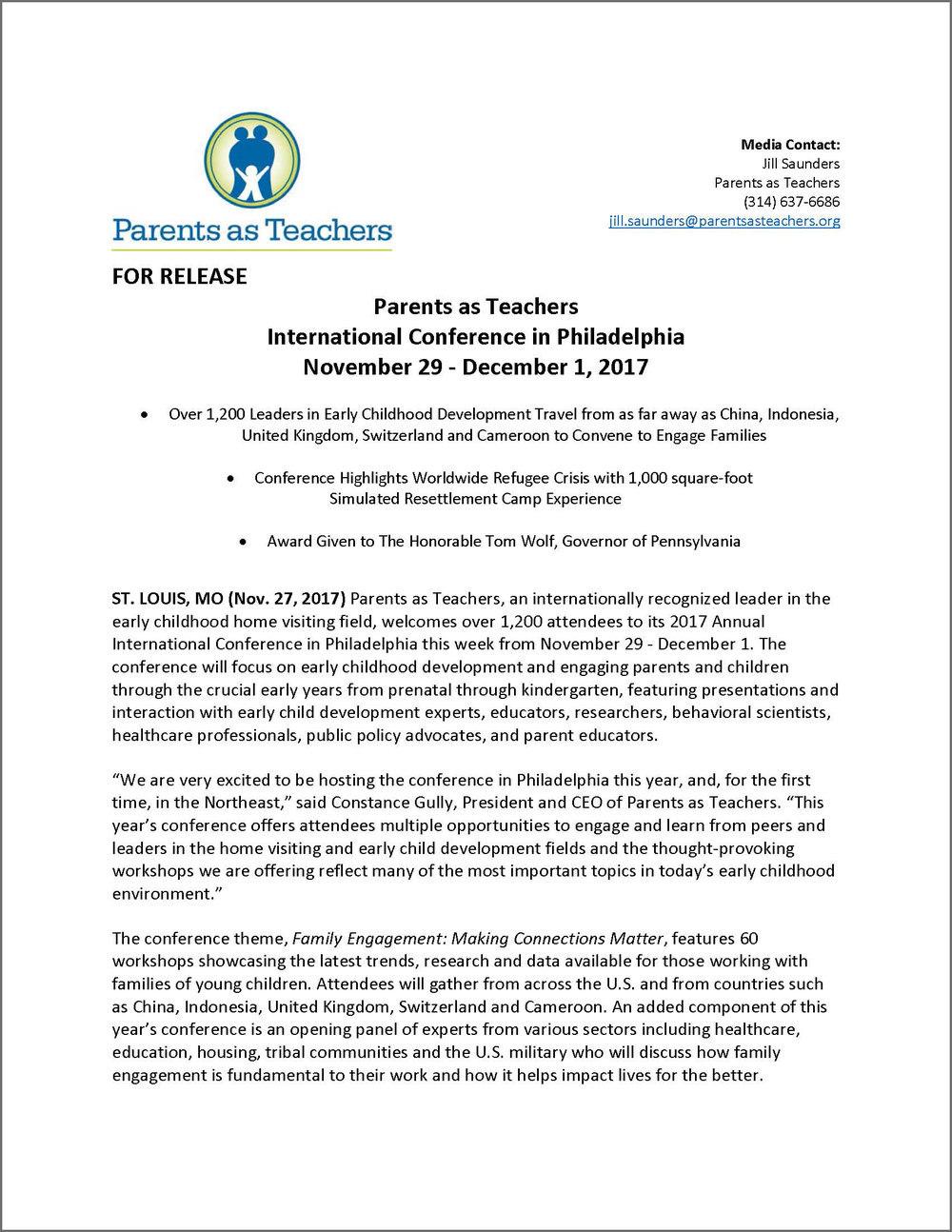 Click image above for PDF of full press release.