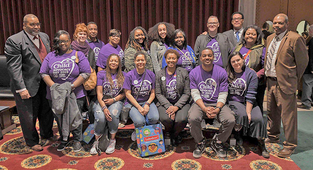 Parents as Teachers staff and pictured far left is State Rep. Dr. Alan K. Green (D-Florissant). Far right is State Rep. Alan Jerome Gray (D-Blackjack); Back row third from right is State Rep. Chris Carter (D-St. Louis City).