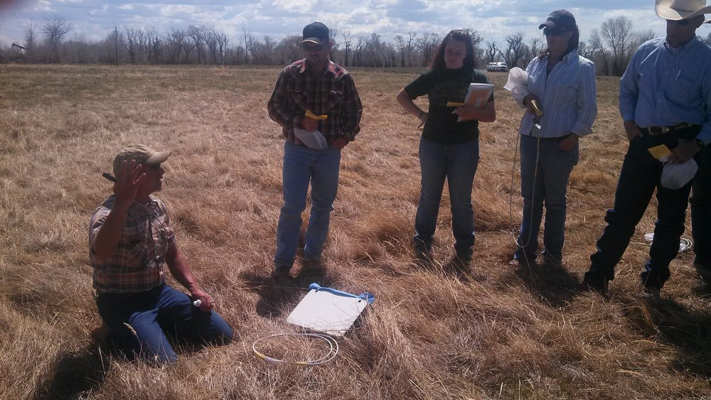 Charley Orchard teaching a Land EKG range monitoring school we put on at Sims Cattle Company in McFadden, Wyoming circa May 2013. Photo by Jesse Bussard.