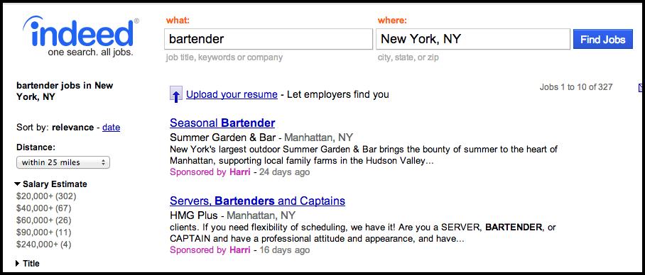 Job Aggregator Sponsorship