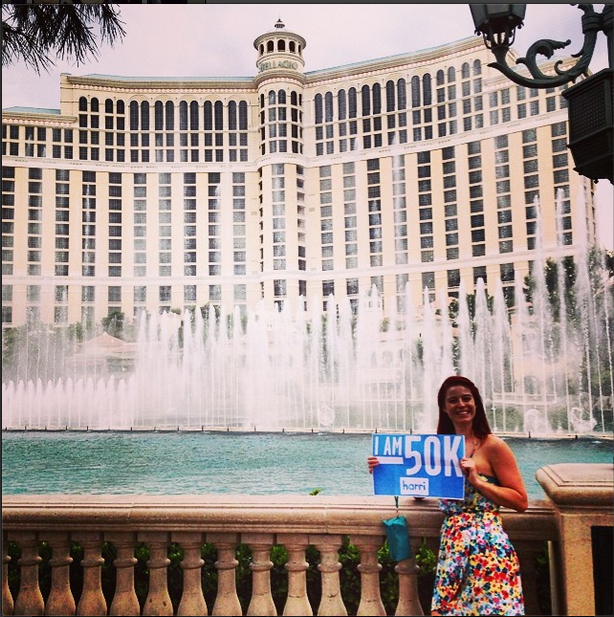 Check out our 50,000th member in Las Vegas courtesy of Harri.