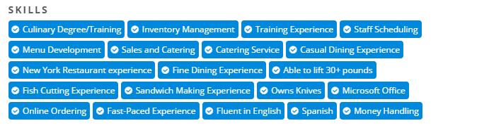 specialty skills