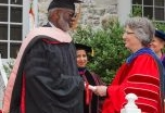 Dr. David Satcher receiving an Honorary Doctor degree