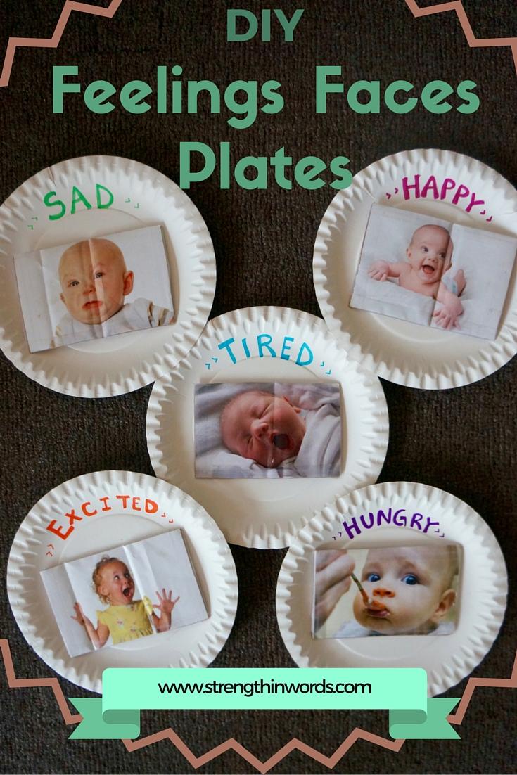 DIY Feelings Faces Plates