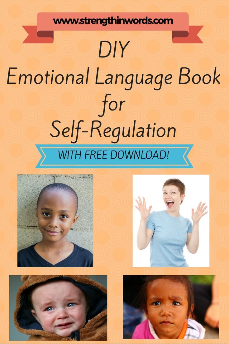 DIY Emotional language book for self-regulation