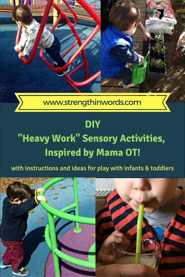 DIY Heavy Work Sensory Activities Inspired by Mama OT