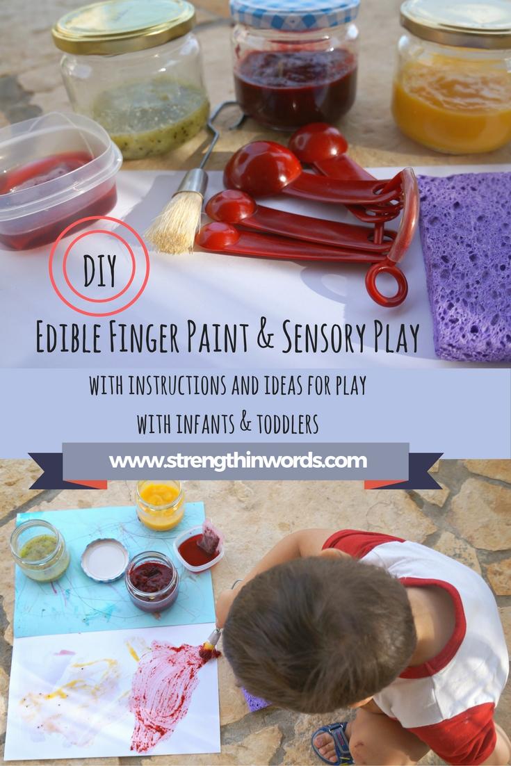 Edible Finger Paint and Sensory Play