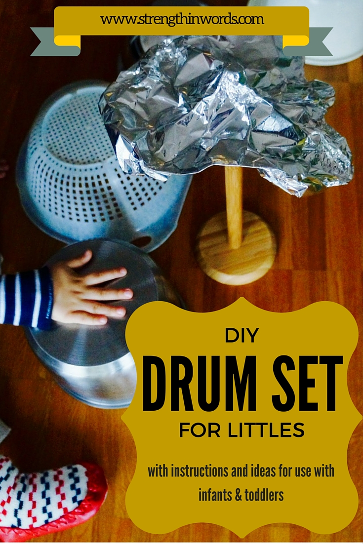 DIY Drum Set for Littles