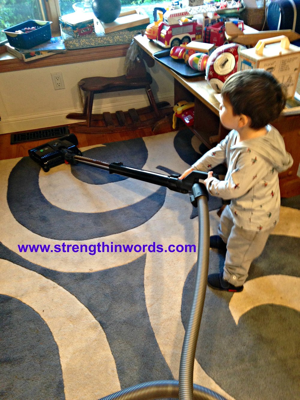 Heavy work, in the form of vacuuming!