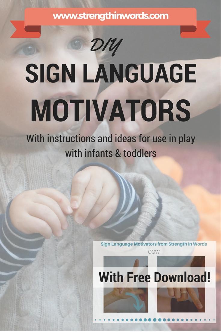 DIY Sign Language Motivators
