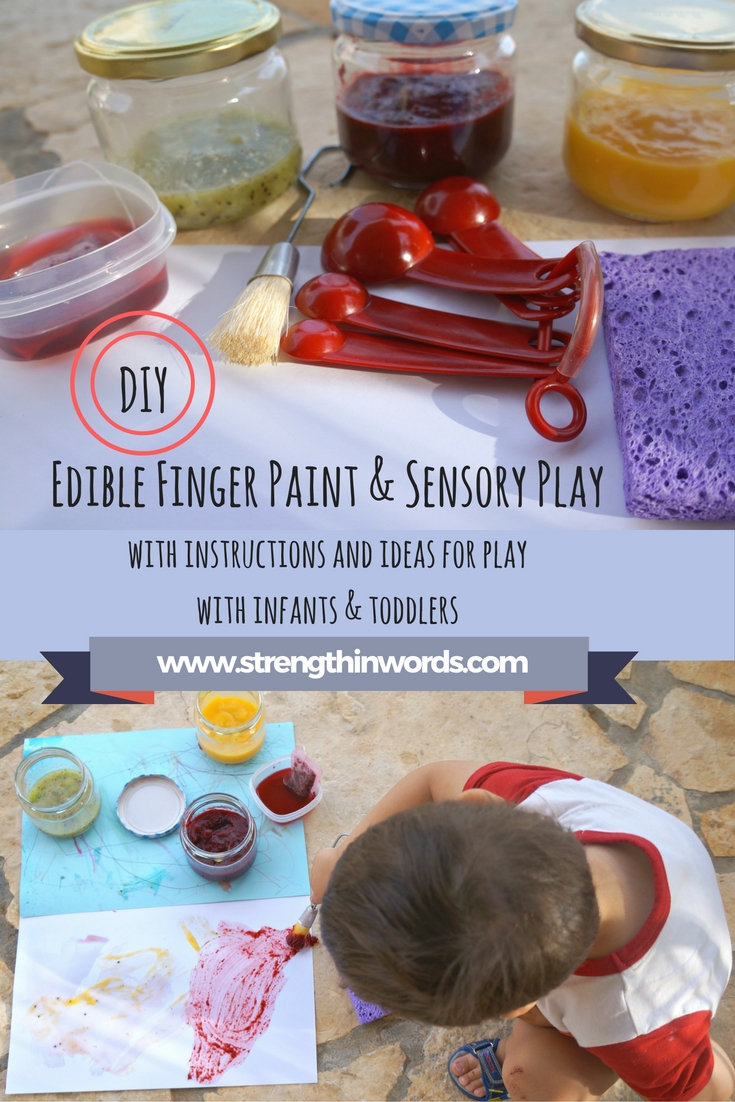 DIY Edible Finger Paint and Sensory Play