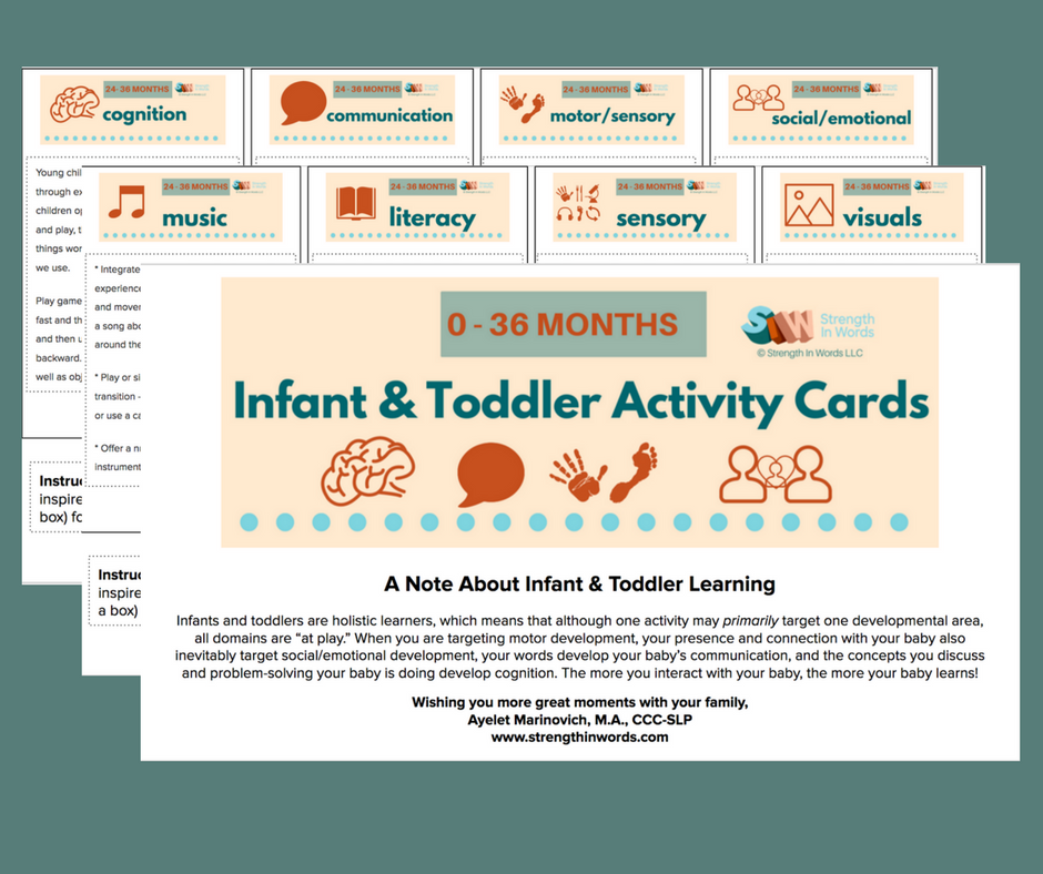 infant and toddler activity cards mockup