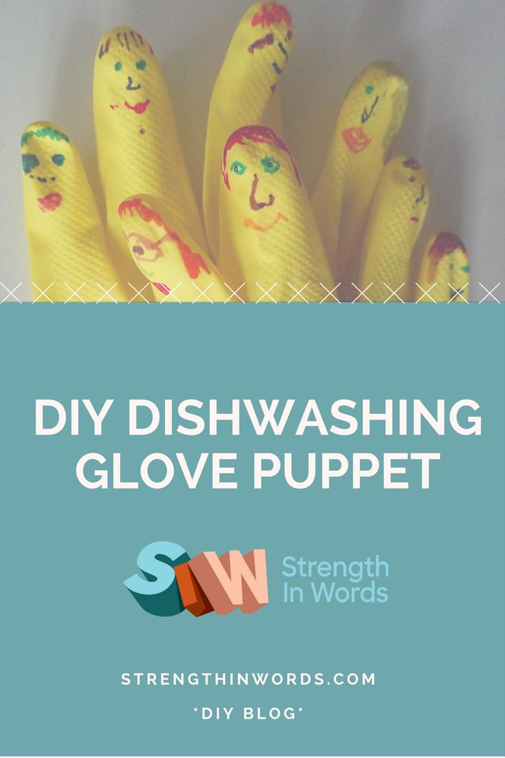 DIY Dishwashing Glove Puppet