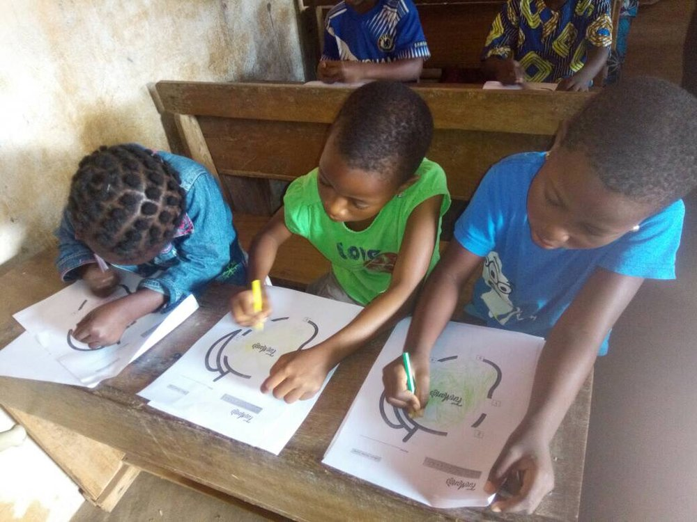 Tohoun, Togo - We taught the money cycle lesson in the community of Tohoun!September 8th, 2017 (50 Students)