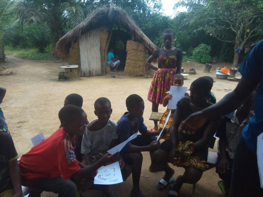 Havu, Togo - We taught the money cycle lesson in the community of Havu!September 18th, 2017 (30 students)