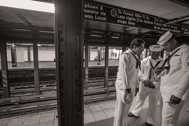 Sailors #archivalprint #photography #socialdocumentary #doddnyc #subway #navy #army #newyork