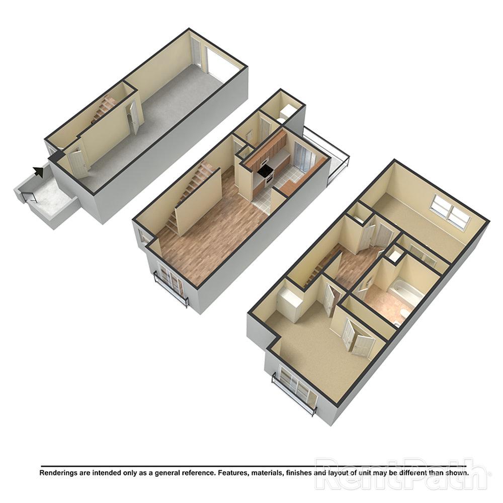 %22The Huron%22 Unfurnished 3D Floor Plan.jpg