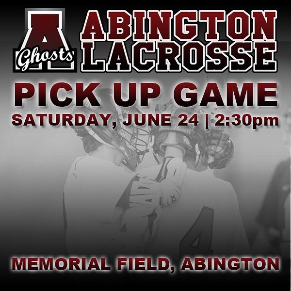 Alumni and current players; join us for a pickup game today at Memorial Field. 2:30 start time. #goghosts