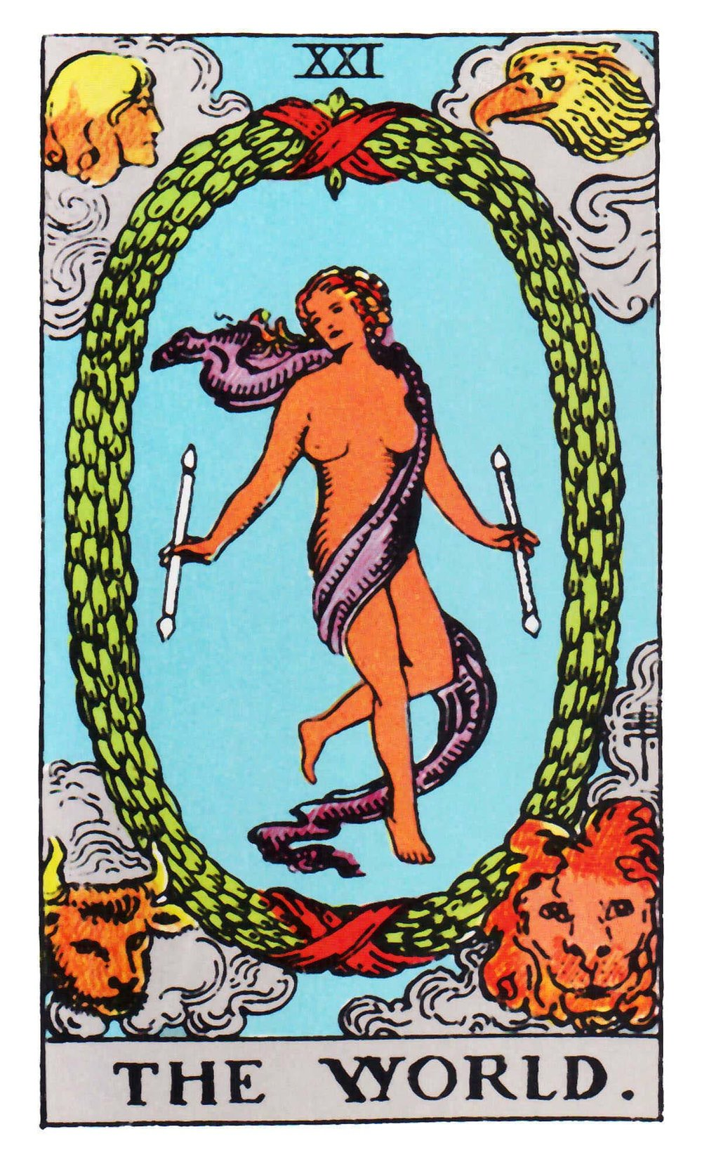 Le Monde / The World; Tarot Card of the Major Arcana