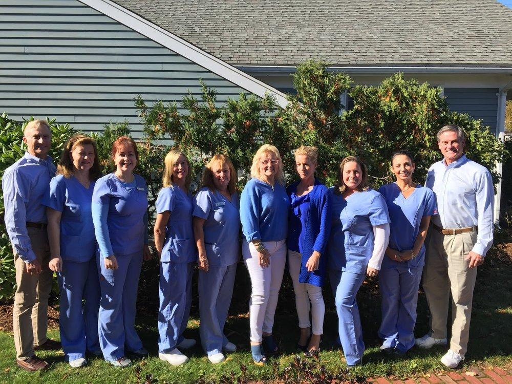 (Pictured) Dr. John Winterle, Kathy Tobin, Mary Bruce, Bonnie Borthwick,Christine Williams,     Dr. Gary Peterson.
