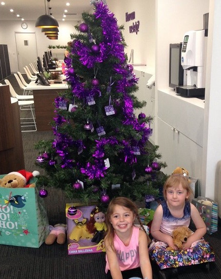 The smiles on the faces of Ceinwein and Bree say that they can't wait to attend the Country Hope Christmas Party! Santa will deliver all the presents donated to the Beyond Bank Christmas Appeal by the generous members of our community.