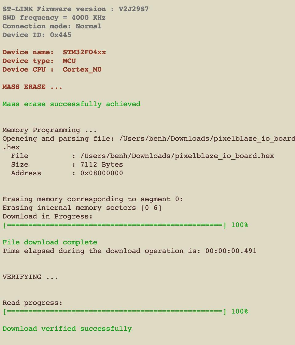 STM32CubeProgrammer secret sauce — Ben Hencke