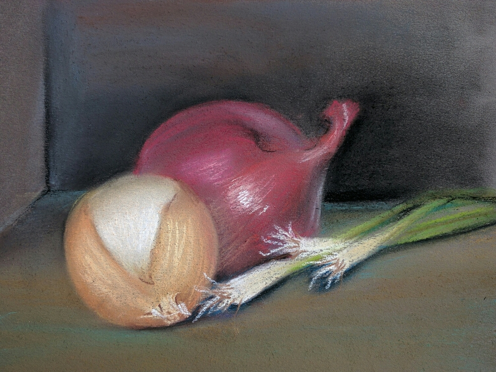 Onions in pastels