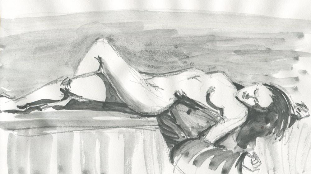 figure drawing in art graf watercolor