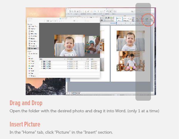 Insert Photos to Microsoft Word