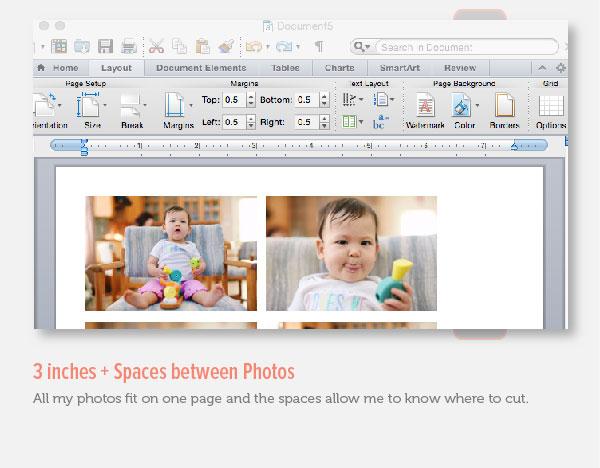 Adding Spaces Between Photos