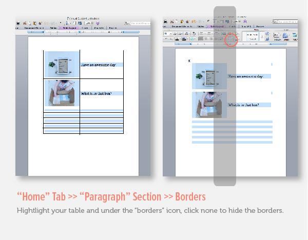 Hide Borders in Microsoft Word v2