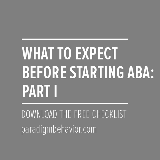 what to expect before starting behavior services
