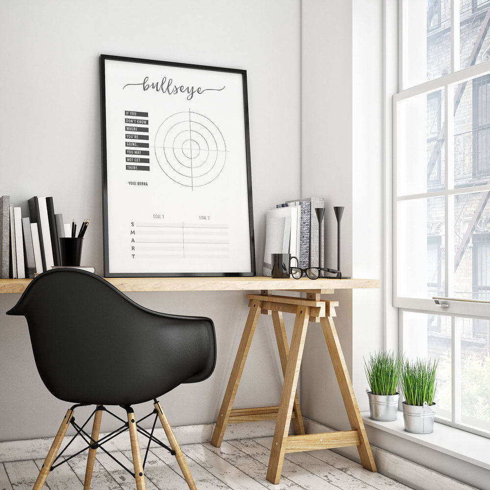 bullseye in a frame
