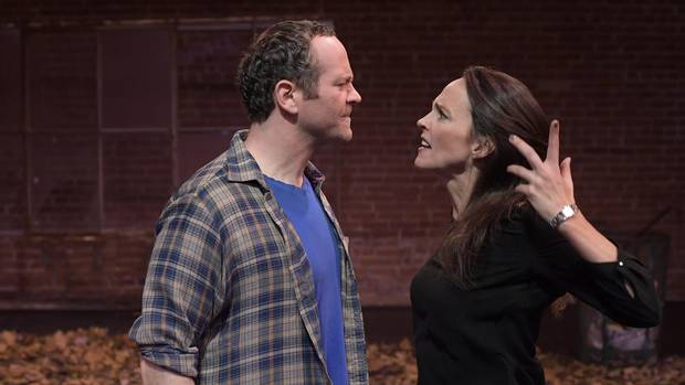 Wes Berger and Sarah Murphy-Dyson in The Damage Done